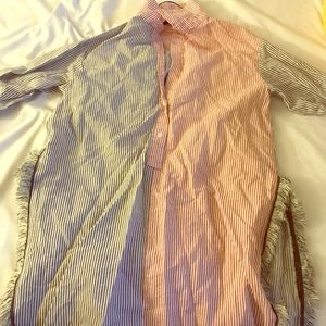 Worn once Zara oversized blouse With slits!!!